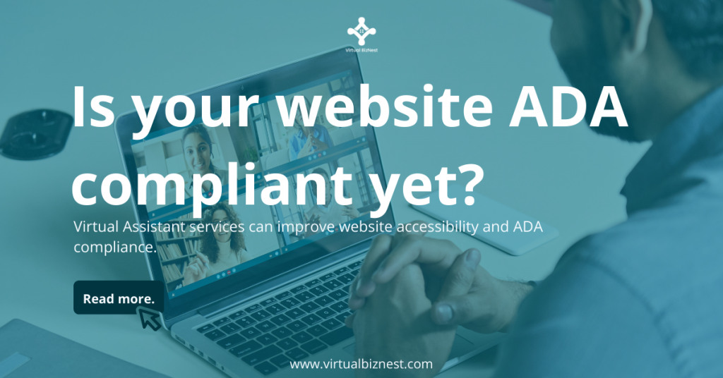 Virtual BizNest has added yet another feather to our cap: improving our clients' website accessibility by adding ADA-compliant features.